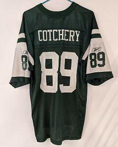 JERRICHO COTCHERY #89 New York NY Jets Green NFL Football Jersey Mens Size L