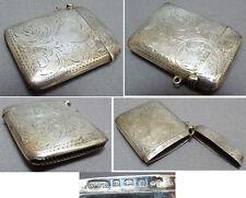 Boite à allumettes pyrogène briquet argent Rabone coeur 1907 silver vesta case