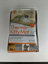 K&H Pet Products 12.5x25inch Thermo Kitty Mat - cream, mocha Heated Pet Bed