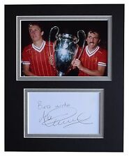 Alan Kennedy Signed Autograph 10x8 photo display Liverpool Football AFTAL COA