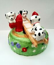 Vintage San Francisco Music Box Dalmatians On Fire Hydrant Seesaw