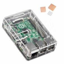 Transparent ABS Case Enclosure Box Heat Sink Kit for Raspberry Pi 3 B B+ B plus