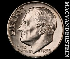 1958-D Roosevelt Dime-Choice Gem Brilliant Uncirculated Luster #P9692