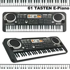 Digital 61 Leucht Tasten Keyboard E-Piano Lern Klavier 300 Sounds & Rhythmen