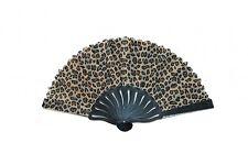 Leopard Style Hand Fan with Black Slab