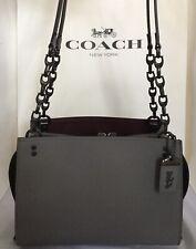 COACH 26829 1941 ROGUE Chain Shoulder Bag Grain Leather BP/Heathered Grey NWT