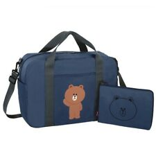 [Line Friends] Folding Travel Duffle Bag Portable Waterproof Pouch Luggage Tote