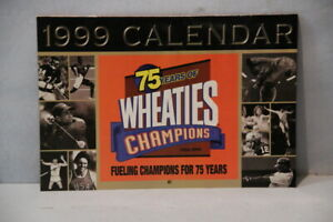 WHEATIES 75 YEARS OF CHAMPIONS - 1999 Calendar - Payton, Woods, Michael Jordan