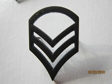 ARMY Subdued Officer Rank Insignia Military Black Metal Pin On STAFF SERGEANT