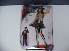 DAY OF THE DEAD WOMEN HALLOWEEN COSTUME ONE SIZE