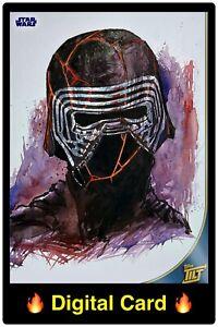 🔥DIGITAL🔥 Tops STAR WARS Trader KYLO REN Super Rare HEADSHOTS TILT Art CARD