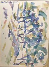 Abstrakt Informel Gouache/Aquarell Gemälde Kalligraphischestruktur Fathwinter´65