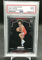 """COBY WHITE RC 2019 Panini Prizm """"Ball In Two Hands"""" ROOKIE #253 PSA 9 MINT 🔥NBA"""
