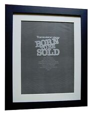 TRANSVISION VAMP+Born To Be Sold+POSTER+AD+ORIGINAL+1989+FRAMED+FAST GLOBAL SHIP