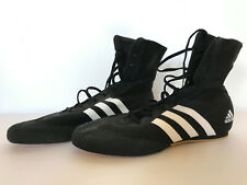 Mens Adidas Boxing Lace Up Shoes Black Size UK 12. Oldschool style. High tops.