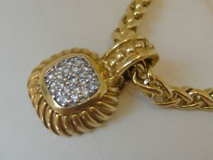 $1950 DAVID YURMAN 18K GOLD DIAMOND ALBION ENHANCER