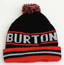 46525df8320 Burton Signature Red   Black Lined Knit Cuff Beanie Skull Cap Youth One Size  NWT
