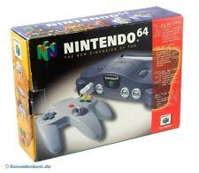 N64 / Nintendo 64 - Konsole + Original Controller + Zub. mit OVP OVP beschädigt