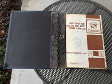 1976 Thru 1981 Cadillac Chassis Body Dealer Parts & Illustration Catalog Rare GM