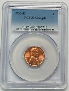 1956 D Lincoln One Cent 1C Penny PCGS Sample