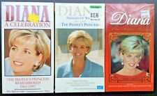 Lot of 3 Princess Diana-A Celebration-The People's Princess VHS Factory Sealed