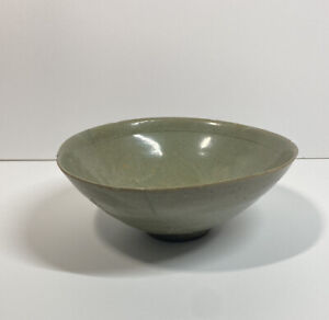 Korean Goryeo Dynasty Period Antique Celadon Pottery Ceramic Bowl