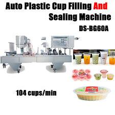 Automatische Plastikbecherfüll- und Verschließmaschine 104 Tassen / min