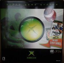 Original Microsoft Xbox Black Console Complete in Box w/ Inserts Super Nice
