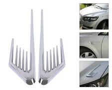 2X Car Side Decoration Stickr Air Flow Vent Fender Cover Hole Intake Duct Grille