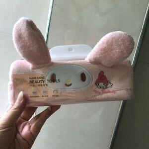 1pcs Cute Women Girls Pink My Melody Headband Soft Plush Salon Sport Hair Band