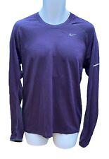 NIKE DriFit Stay Warm Soft Wool based Long Sleeved Running Workout Shirt Purple