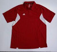 Adidas Mens Adizero Golf/Tennis Polo Shirt Climalite Sz XL Extra Large Red/White