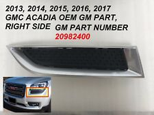 2013-2017 gmc acadia grille surround bezel right side 20982400