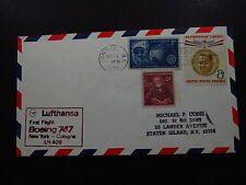 FFC Cover US Lufthansa First Flight Boeing 747 New York Cologne LH 409 1970