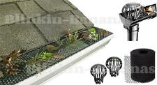 LEAF DRAIN DOWN PIPE GUARD FILTER COVER GUTTER GUTTERING MESH NO BLOCKED LEAVES