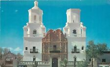 Tuscon Arizona~Mission San Xavier~Two Towers, One Belfry~1950s Postcard