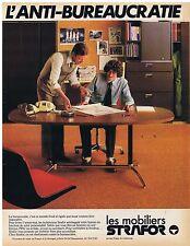 PUBLICITE ADVERTISING 114 1978 STRAFOR mobiliers l'anti-bureaucratie