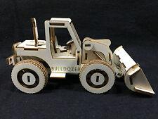 Bulldozer découpées au laser en bois modèle 3D Kit de Puzzle /