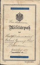✚0473✚ German WW1 Garde Korps Guards Corps Military Pass Landsturm Infantry Batt