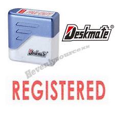 { REGISTERED } Deskmate Red Pre-Inked Self-Inking Rubber Stamp #KE-R03A