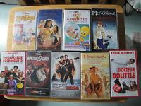 Lot de 9 Video K7 Enfants VHS