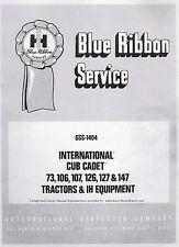 Cub Cadet Models 73 106 107 126 127 and 147 SERVICE Manual International
