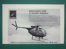 5/1969 PUB NARDI SA MILANO HUGHES OH-6A 500M 23 WORLD RECORDS ORIGINAL FRENCH AD