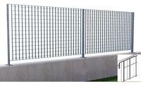 pannello grigliato per recinzione acciaio zincato cm h 120x2 mt sezione 25x2 mm