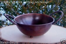 RUSTIC Copper Bowl Burner w/ Handles - Pagan Wicca Witchcraft Witch Ritual Magic