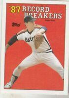 FREE SHIPPING-NRMNT-1988 Topps #6 '87 Record Breakers Nolan Ryan Houston Astros