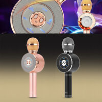 WS668 Wireless Bluetooth Microphone Karaoke Handheld Stereo Mic USB Speaker KTV