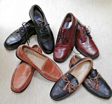 LOT  4 pr. Men shoes Sz 10.5 & 11 WIDE Loafer Oxfords Black Brown Dockers N Bush