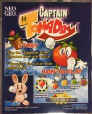 Captain Tomaday Neo Geo Arcade Marquee