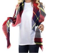 New Simply Southern Tees T-shirt Collection Women's Plaid Blanket Scarf Olivia